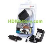 CAR075 Cargador de Litio para JVC BNVF707,BNVF714